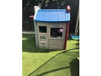Little tikes school/garage play house