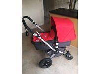 Bugaboo Cameleon 2 full travel system inc Maxi Cosi car seat, Easy base, Sand fabrics and footmuff