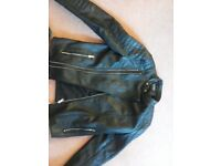 Pull and Bear Leather Jacket --- Amazing condition £100