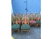 21 Cane wicker dining garden pub coffee shop chairs job lot . cottage make