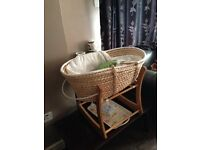 Brand New John Lewis baby basket with stand