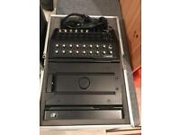 Mackie DL1608 + flight case and router