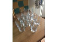 Glasses set of 16