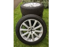 """GENUINE 20"""" RANGE ROVER SPORTS ALLOYS with CONTINENTAL TYRES 5x120 (ideal for T5)"""