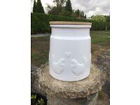 Ceramic White Bread Bin