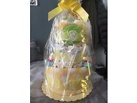 Winnie the Pooh Unisex nappy cake