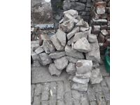 Local stone ideal for rockery
