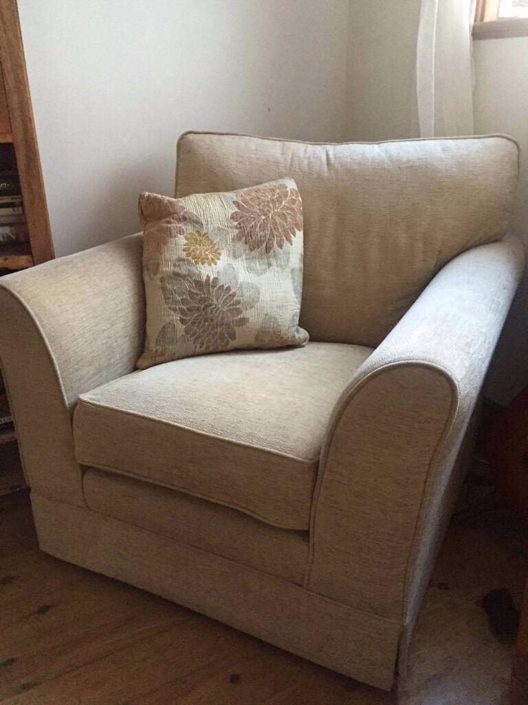 Armchair with a cushion.