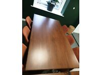Modern West Elm 6 seater Wooden Dining table - Must go - 2 Remaining £125 ONO