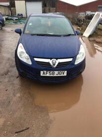 Vauxhall Corsa d 1.3 cdti 08 3 door blue spares breaking EC