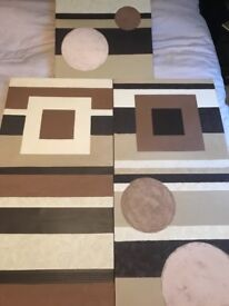 5 Good Quality Wooden Canvases, Painted (Not Printed)