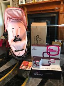 Quinny Zapp Xtra 2 Buggy/Stroller in Miami Pink & Extras Still in Boxes *Only Used for 2 months*