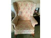 Victorian wing back chair