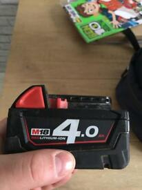 Milwaukee battery
