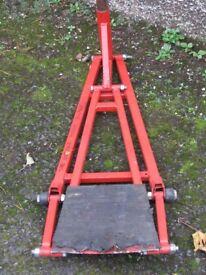Quick Lift Jack; fixed height jack that will lift a lightweight race car