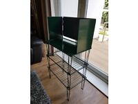 Kitchen shelving stand for cooker with wind break
