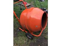 Cement mixer with stand