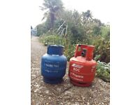 Gas cylinders with gas!