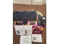 Gyration Wireless Compact Keyboard and Gyroscopic Optical Mouse