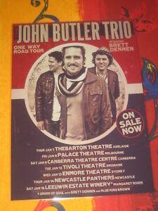 THE JOHN BUTLER TRIO  -  ONE WAY ROAD  AUSTRALIAN  TOUR  -  PROMO TOUR POSTER