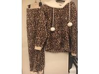 Fluffy ladies pyjamas size 12-14