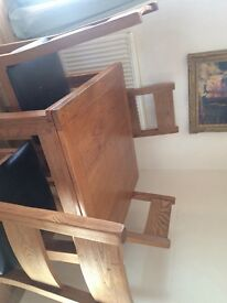 Four set of Solid wood dining table and chairs£250