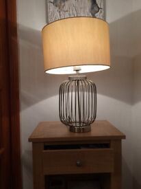 Ta le Lamp Gold/brass nearly new condition cost £80 accept £30