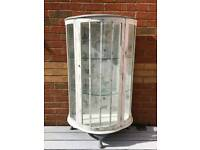 Shabby chic vintage display cabinet
