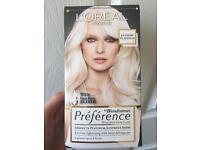 Platinum blonde hair dye. Bought for £8. Will take £5