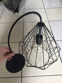 Black geometric hanging light shade £20