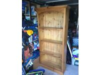 For Sale: Solid pine book case 2m tall 5 adjustable shelves
