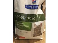 Hill's Metabolic Weight Management Dry Cat food unopened 8kg bag