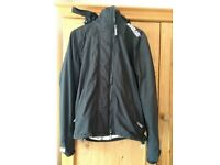 Small Men's black and white Superdry windcheater Coat