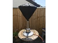 Patio heater (table top) with cover & gas bottle