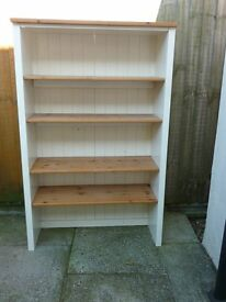 Shelf unit; shelves are solid wood; very sturdy construction