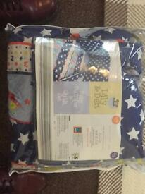 Space Themed Baby Bumper & Quilt Set