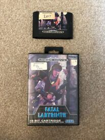 Sega Mega Drive Game Fatal Labyrinth