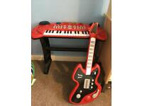 Children's keyboard and guitar toy