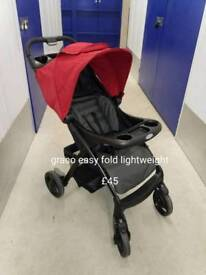 As New Graco liteweight easifold pushchair