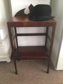 Vintage Dark Wood Shelves/ Side Table