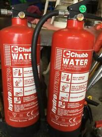 2 x 6 Litres Water Fire Extinguishers