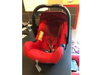 Britax romer baby car seat and isofix base along with adaptors for sale.