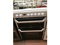 60CM WHITE INDESIT ELECTRIC COOKER