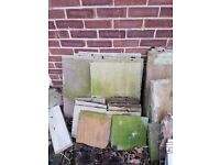 Various paving slabs all different sizes