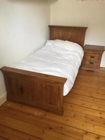 Oakland Furniture single bed and John Lewis mattress