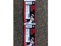 2 Robbie Williams tickets Edinburgh Murrayfield Stadium