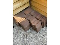 Over 100 Dreadnought clay roof tiles..
