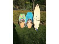 surfboard, bodyboard and skimboard job lot