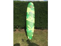 Custardpoint Camouflage Surfboard with roof bars