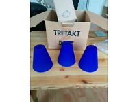 Ikea Bright Blue Glass Triple Ceiling Fitment